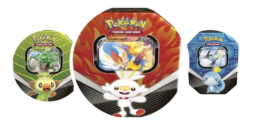 Pokémon Latas Parceiros Galar Rillaboom Cinderace Inteleon V