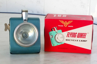 Lámpara Foco Bicicleta Antiguo Sin Uso En Su Caja Original