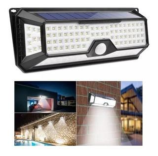 Lámpara Solar 136 Led Luz Impermeable Sensor Movimiento +