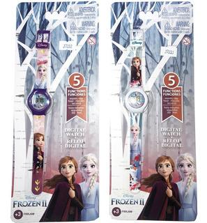 Reloj Digital Infantil Pulsera Frozen Disney Oficial Lelab