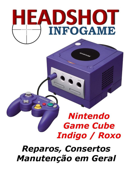 Consertos Manutenção Reparos Nintendo Game Cube Indigo Roxo
