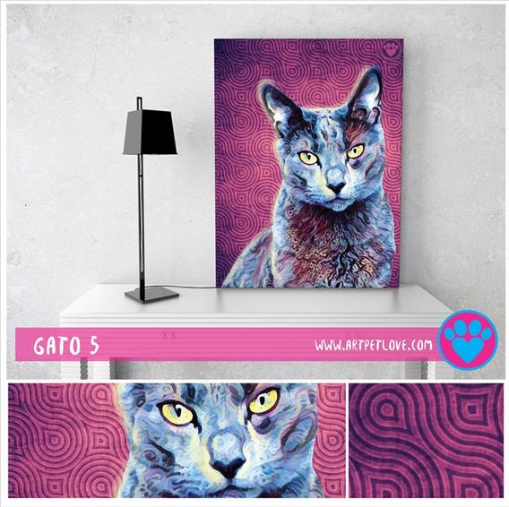 Cuadro - Art Pet Love - Gato 5.