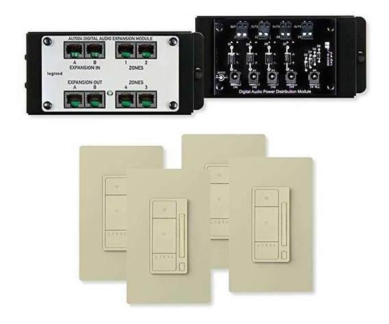 On-q Digital Audio 4 Room Expansion Kit Luz Almond Au7054- ®
