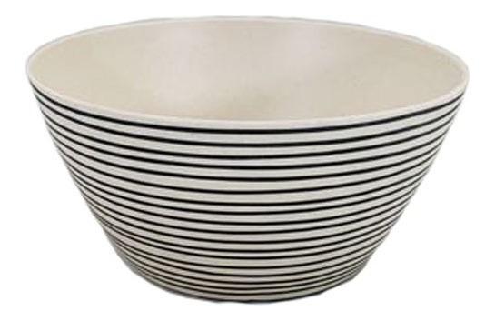 Bowl De Fibra De Bamboo   Rayas Chico (0110225)