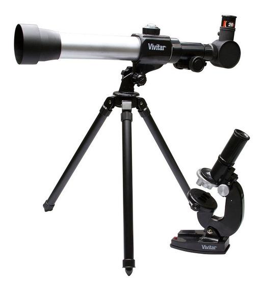Kit Combinado Telescópio E Microscópio