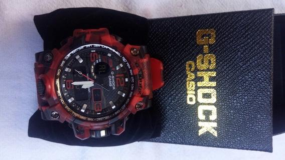 Relógio G Shok Camuflado Vermelho