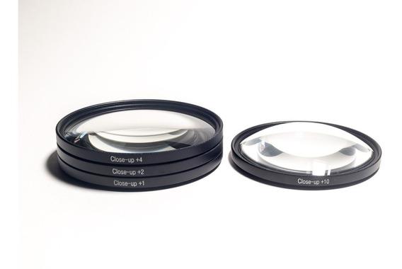 Kit Filtros Close-up 1 2 4 E 10 De 62mm Para Foto Macro