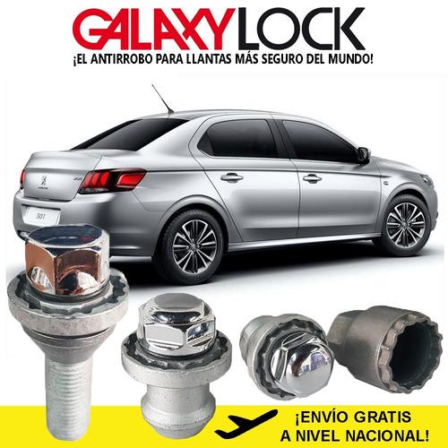 Imagen 1 de 8 de Birlos De  Seguridad Peugeot 301 Active Galaxylock Original