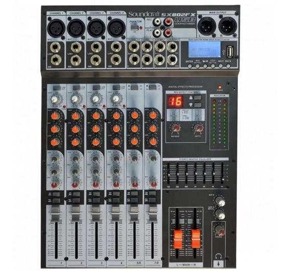 Mesa De Som Analogica Soundcraft Sx802fx Usb 8 C + Efeitos