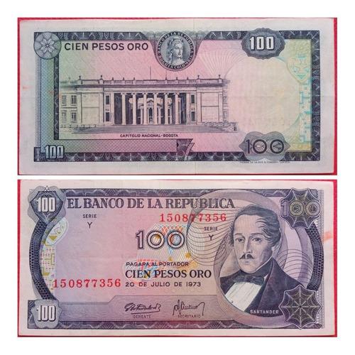 Imagen 1 de 1 de Billetes De 100 Pesos De 1973