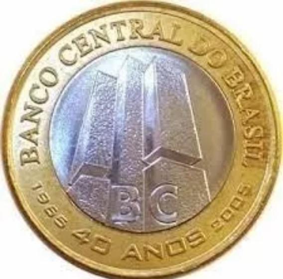 Moeda Brasileira - 1 Real Comemorativa 40 Anos Do Banco Cent