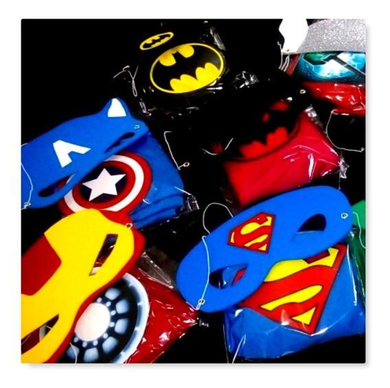 Capas Y Antifaz Superheroes 25 Kits