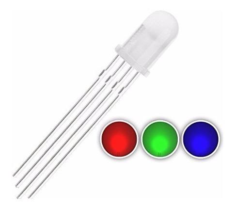 5 X Led Rgb Alto Brilho Difuso 5mm Anodo Comum Arduino Pic