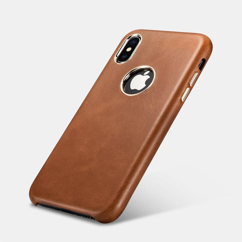 Case Back Cover De Cuero Genuino Para iPhone X Xs Max