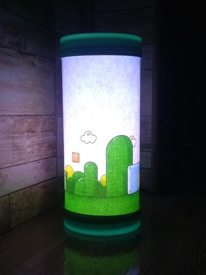 Luminária Abajur De Led Super Mario World Cenário Game Geek