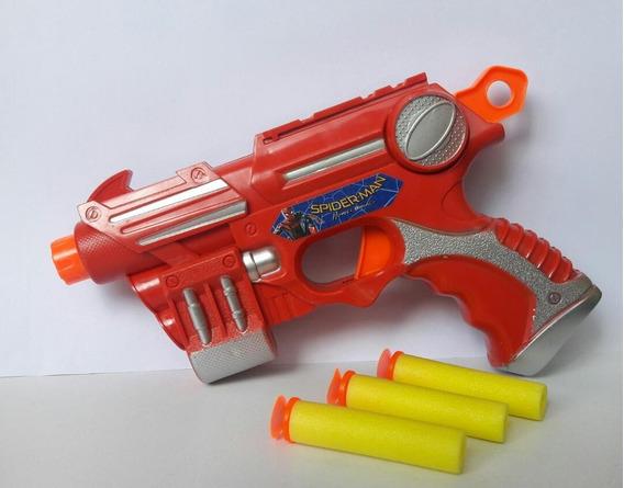 Pistola Juguete Niños Spiderman Avengers Cars Y Transformers