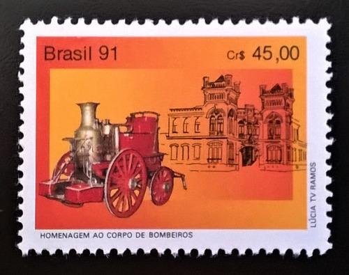 Brasil Bomberos, Sello Yv 2026 Homenaje 1991 Mint L12577