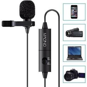 Microfone Lapela Condensador Omnidirecional Profissional