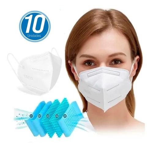 Kit 10 Máscara Respiratória Proteção Pff2 Kn95 Fda Anvisa
