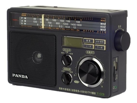 Rádio Panda T-09 Am Fm Sw Multibanda C/ Leitor Mp3/wma