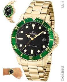 Relógio Masculino Dourado Banhado Ca31266m Aprova D