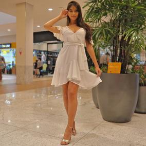 Vestido Casual Esporte Fino Babado Alça Casamento Dia V5024