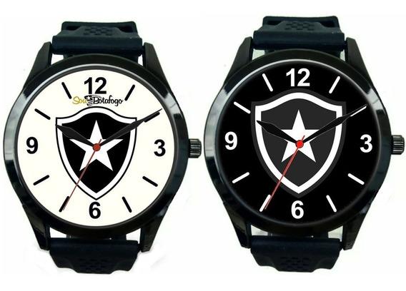 Kit 2 Relógios Pulso Personalizado Torcedor Botafoguense