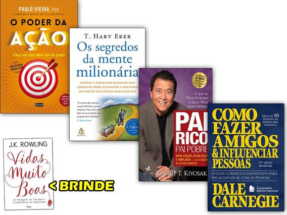 Fazer Amigos Influenciar Pessoas+ Mente Milionária + 2 Livro