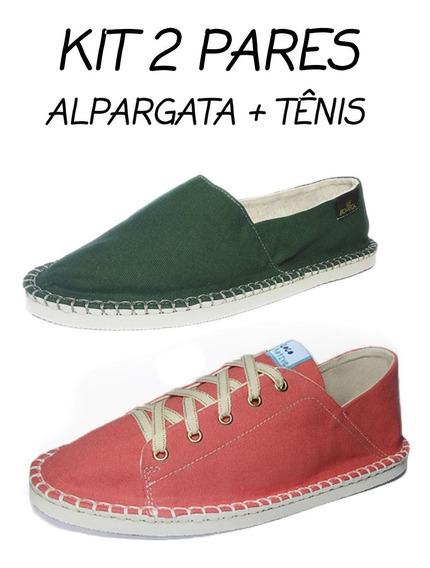 Alpargata Sapato Tenis Combo 2 Par Sapatilha Casual Docksaid