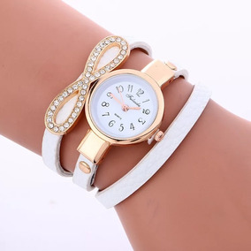 Relógio Pulseira De Couro Feminino Vintage Retrô Bracelete
