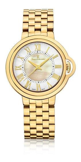 Relógio Pulso Jean Vernier Masculino Aço Inoxidável Jv01149