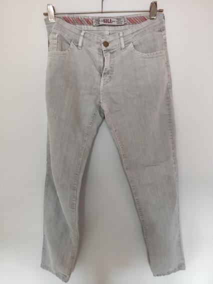 Pantalón Jeans Kill Elastizado Color Gris Claro Talle 45