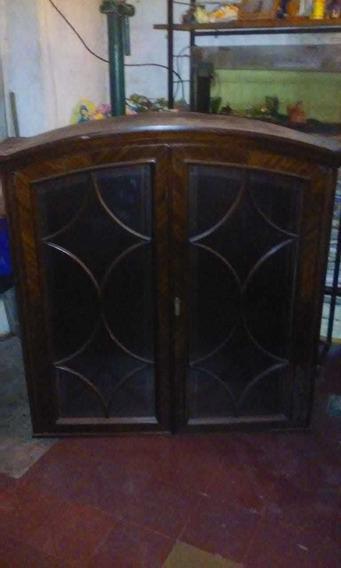 Mueble Antiguo Vajillero Cristalero Estilo Ingles Liquido!
