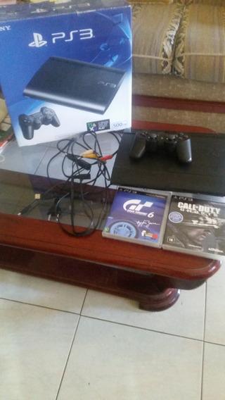 Ps3 500 Gb Com Dois Jogos