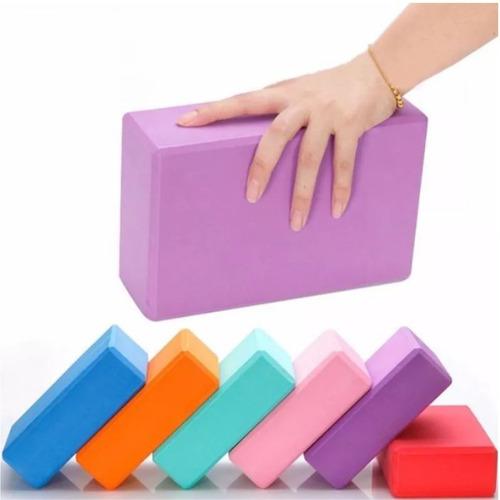 Ladrillo Yoga Eva Pilates Bloque Cubo Mat Colores Foam