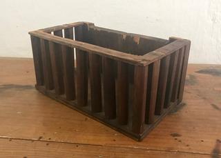 Caja De Madera Con Barrotes | Jaula Adorno Decoración