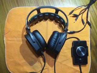 Auriculares Razer Tiamat 7.1 + Placa De Sonido Encore7.1