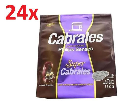 Imagen 1 de 7 de 24x Cafe Cabrales Super Hd1280 Philips Senseo Capsula