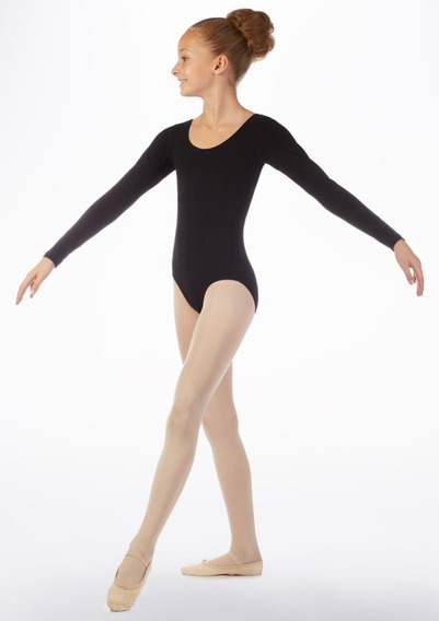 Malla Body Manga Larga Danza Ballet Flamenco Niñas Y Jóvenes