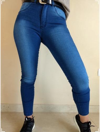 Pantalon De Jeans Elastizado Tiro Alto Calce Perfecto Talles