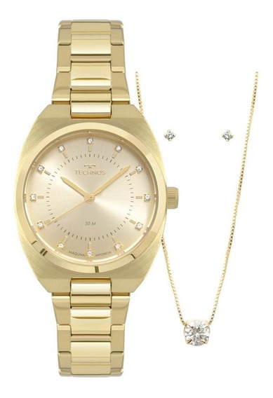 Relógio Technos Dourado Analógico 2035mpa/k4d