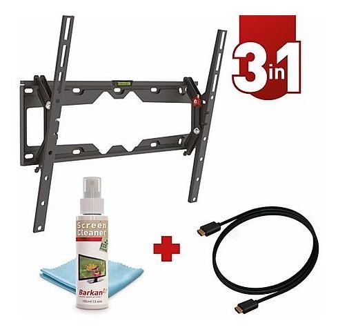 Base Pared Tv Barkan 19-65 PuLG Inclina + Cable + Kit Limpia