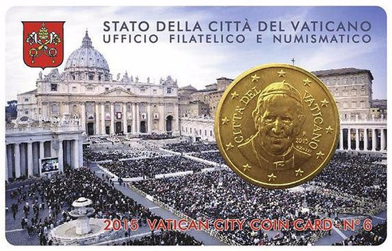 Vaticano 2015 Coincard Nº 6 Moneda De 50 Centimos Francisco