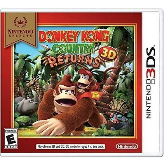 Donkey Kong: Country Returns 3ds Lacrado