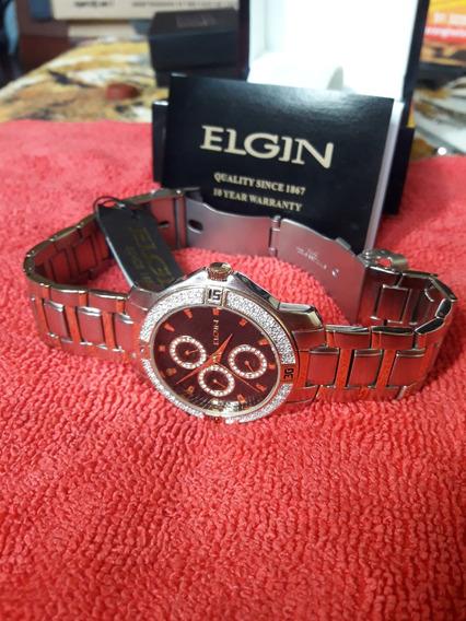 Liquida!! Belíssimo Relógio Elgin Multifuncional A Quartzo