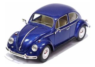Miniatura Volkswagen Fusca Clássico 1967 Azul 1/24