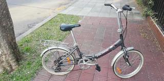Bicicleta Plegable Aurora Folding Classic Retro - Rodado 20