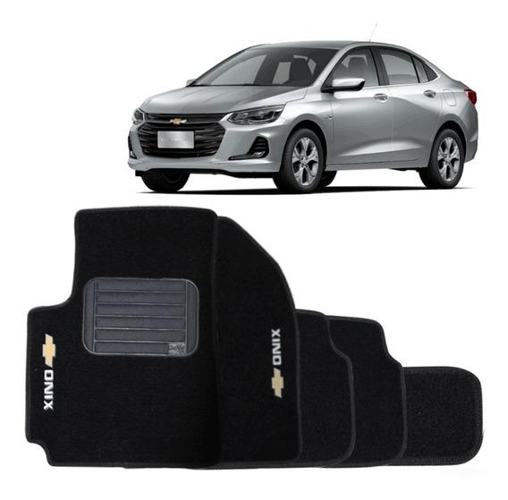 Tapete Carpete Premium Preto Chevrolet Onix Plus 2020 2021
