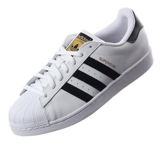Zapatillas adidas Superstar | Blanca Y Negra | Talle 40