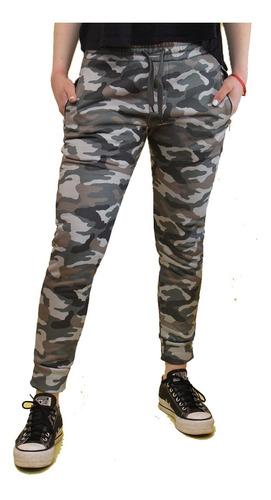 Imagen 1 de 6 de Pantalón Importado Jogging Camuflado Frizado Con Puño